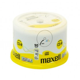 MAXELL CD-R 80min 700mb 52x 50spindle pack Printable FF- MAXELL - CD0195