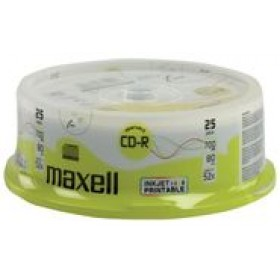 MAXELL CD-R 80min 700mb 52x 25Cake pack Printable FF- MAXELL