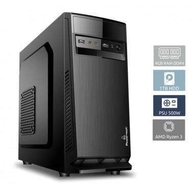 POWERTECH PC DMPC-0017 Ryzen 3 1300X, DDR4 4GB, 1TB HDD, VGA GT710- POWERTECH