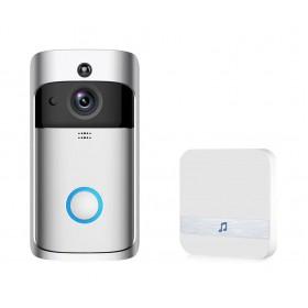EKEN Δικτυακό κουδούνι πόρτας EKN-V5-SL, WiFi, Full HD Κάμερα, ασημί- EKEN