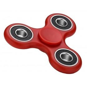 Fidget Spinner FS-008, Plastic, 3 leaves με bearings, Red, 1 minute- BULK