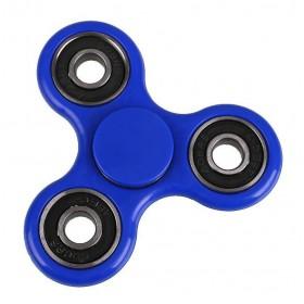 Fidget Spinner FS-009, Plastic, 3 leaves με bearings, Blue, 1 minute- BULK