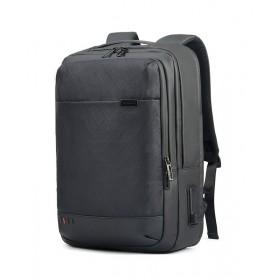 ARCTIC HUNTER τσάντα πλάτης GB00328 με θήκη laptop, USB & 3.5mm, grid- ARCTIC HUNTER