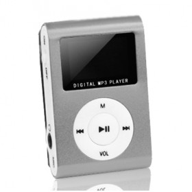 SETTY MP3 Player LCD, Earphones, Silver- SETTY