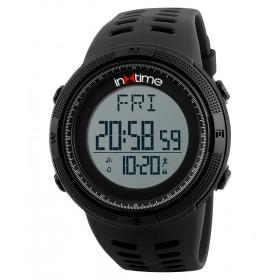 INTIME Ρολόι χειρός Step-01, Pedometer, Θερμίδες, El φωτισμός, μαύρο- IN TIME