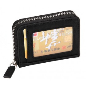 INTIME πορτοφόλι πιστωτικών καρτών IT-017, RFID, PU leather, μαύρο- INTIME