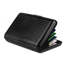 INTIME πορτοφόλι προστασίας ανάγνωσης πιστωτικών καρτών IT-018, μαύρο- INTIME