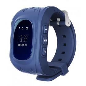 INTIME GPS Παιδικό ρολόι χειρός IT-023, SOS, βηματομετρητής, σκούρο μπλε- INTIME