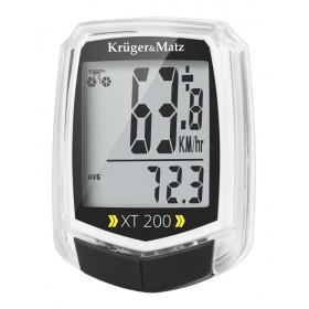 KRUGER&MATZ ηλεκτρονικό ταχύμετρο XT 200 KM0075, 2 users, αδιάβροχο- KRUGER&MΑΤΖ