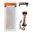 KEYESTUDIO Power+830-Hole Solderless breadboard KS0312, 65x Jumper Wires- KEYESTUDIO