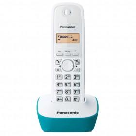 PANASONIC ασύρματο τηλέφωνο KX-TG1611GRC, ελληνικό μενού, άσπρο-πράσινο- PANASONIC