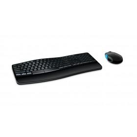 MICROSOFT set ποντίκι & πληκτρολόγιο L3V-00015, ασύρματα, ανατομικά- MICROSOFT