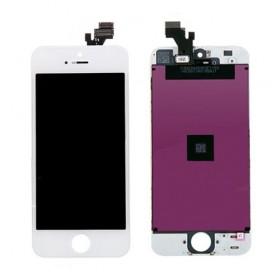 High Copy LCD για iPhone 5s, Premium Quality, White- BULK