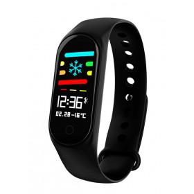 Smart Bracelet M3, Blood Pressure & Heart Rate Monitor, μαύρο- UNBRANDED