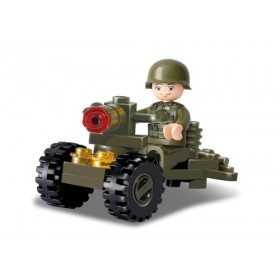SLUBAN Τουβλάκια Army, Soldier M38-B0118, 24τμχ- SLUBAN