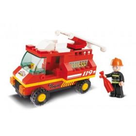 SLUBAN Τουβλάκια Town, Fire Truck M38-B0173, 74τμχ- SLUBAN