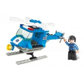 SLUBAN Τουβλάκια Town, Police Helicopter M38-B0175, 85τμχ- SLUBAN