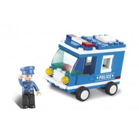 SLUBAN Τουβλάκια Town, Police Van M38-B0177, 64τμχ- SLUBAN