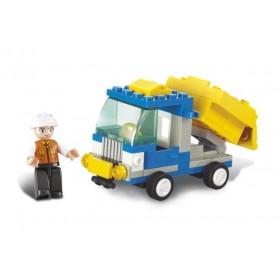 SLUBAN Τουβλάκια Town, Dump Truck M38-B0178, 65τμχ- SLUBAN