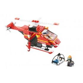 SLUBAN Τουβλάκια Fire, Rescue Helicopter M38-B0218, 155τμχ- SLUBAN