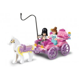 SLUBAN Τουβλάκια Girls Dream, Princess Carriage M38-B0239, 99τμχ- SLUBAN
