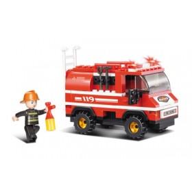 SLUBAN Τουβλάκια Fire, Fire Truck M38-B0276, 133τμχ- SLUBAN