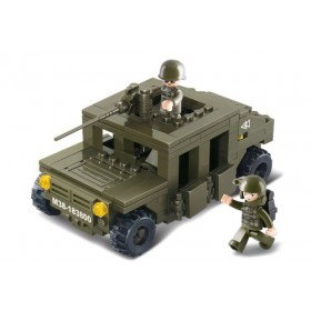SLUBAN Τουβλάκια Army, Armoured Car M38-B0297, 175τμχ- SLUBAN