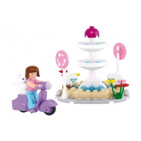 SLUBAN Τουβλάκια Girls Dream, Fountain M38-B0519, 79τμχ- SLUBAN
