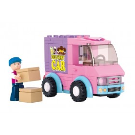 SLUBAN Τουβλάκια Girls Dream, Delivery Van M38-B0520, 102τμχ- SLUBAN