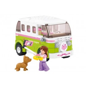 SLUBAN Τουβλάκια Girls Dream, Camper M38-B0523, 158τμχ- SLUBAN