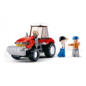 SLUBAN Τουβλάκια Town Farm, Tractor M38-B0556, 102τμχ- SLUBAN