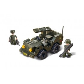 SLUBAN Τουβλάκια Army, Jeep M38-B5800, 102τμχ- SLUBAN