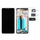 LCD για Xiaomi Redmi 6, Camera-Sensor ring, ear mesh, frame, μαύρη- UNBRANDED