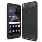 POWERTECH Θήκη Carbon Flex για Huawei P9/P8 Lite 17, Honor 8 Lite, μαύρη- ROSWHEEL