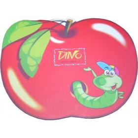 HARD PVC mouse Pad σε σχήμα μήλου με έντομο 230 x 180 x 3mm- BULK - MP-3