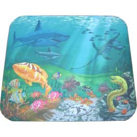N.R CLOTH mouse Pad απεικονίζει την θάλασσα με τα  ψάρια.   230 X 180 X 3mm- BULK - MP-4