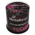 MediaRange CD-R 52x 700MB/80min Cake100- MediaRange - MR204