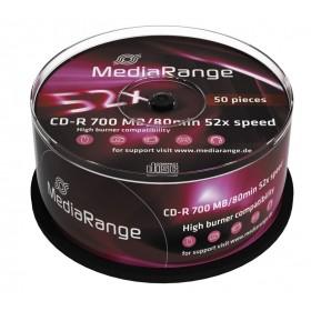 MediaRange CD-R 52x 700MB/80min Cake50- MediaRange - MR207