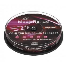MediaRange CD-R 52x 700MB/80min Cake10- MediaRange - MR214