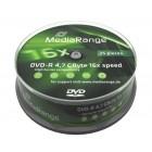 MediaRange DVD-R 4,7 GB 16X Cake25- MediaRange - MR403