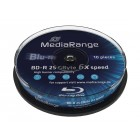 MediaRange BD-R(bluray) 25GB 6x speed, Cake 10- MediaRange - MR499