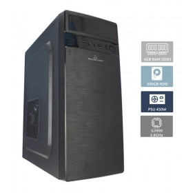 POWERTECH Έτοιμος Η/Υ, Intel Celeron G3900, 4GB RAM, 500GB HDD, DVD-RW- POWERTECH