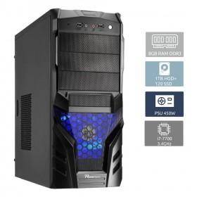 POWERTECH Έτοιμος Η/Υ, i7-7700, 8GB RAM, 1TB HDD + 120GB SSD, DVD-RW- POWERTECH
