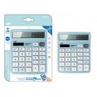 MP αριθμομηχανή PE028, ηλιακό & μπαταρίες, 12 ψηφία, γαλάζια- MP