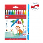 MP σετ χρωματιστών μαρκαδόρων με διπλή μύτη 2.1 & 3.7mm PP861, 12τμχ- MP