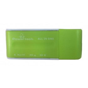 Powertech Mini Card reader - GREEN- Power Tech - PT-163