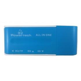 Powertech Mini Card reader - BLUE- Power Tech - PT-164