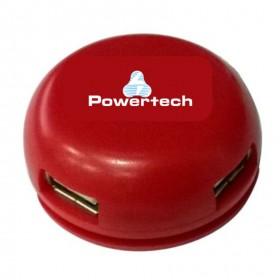 Powertech USB 2.0V HUB 4 Port - RED- Power Tech - PT-167