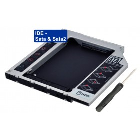 HDD Caddy IDE / Sata & Sata2 2.5inch - 12,7mm- BULK - PT-241