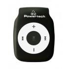 POWERTECH MP3 Player με clip, επαναφορτιζόμενο, microSD, Μαύρο- POWERTECH